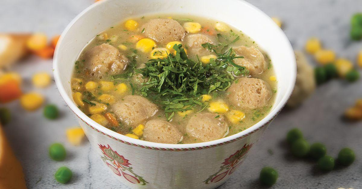 Soya Vegetable Soup image