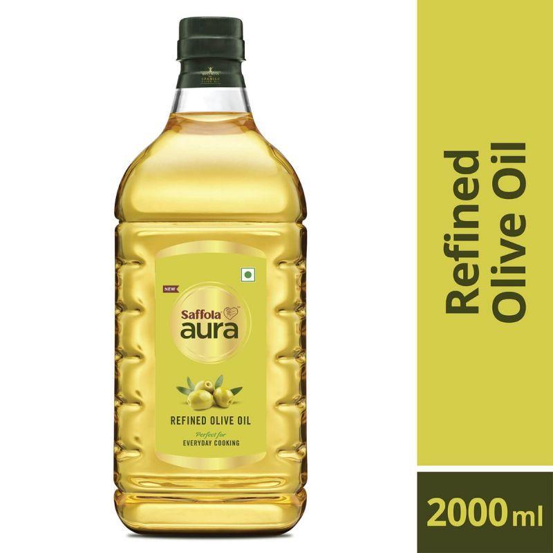 Saffola Meal Maker Soya Chunks 400g (Pack of 3) + Aura Refined Olive Oil, 2ltr