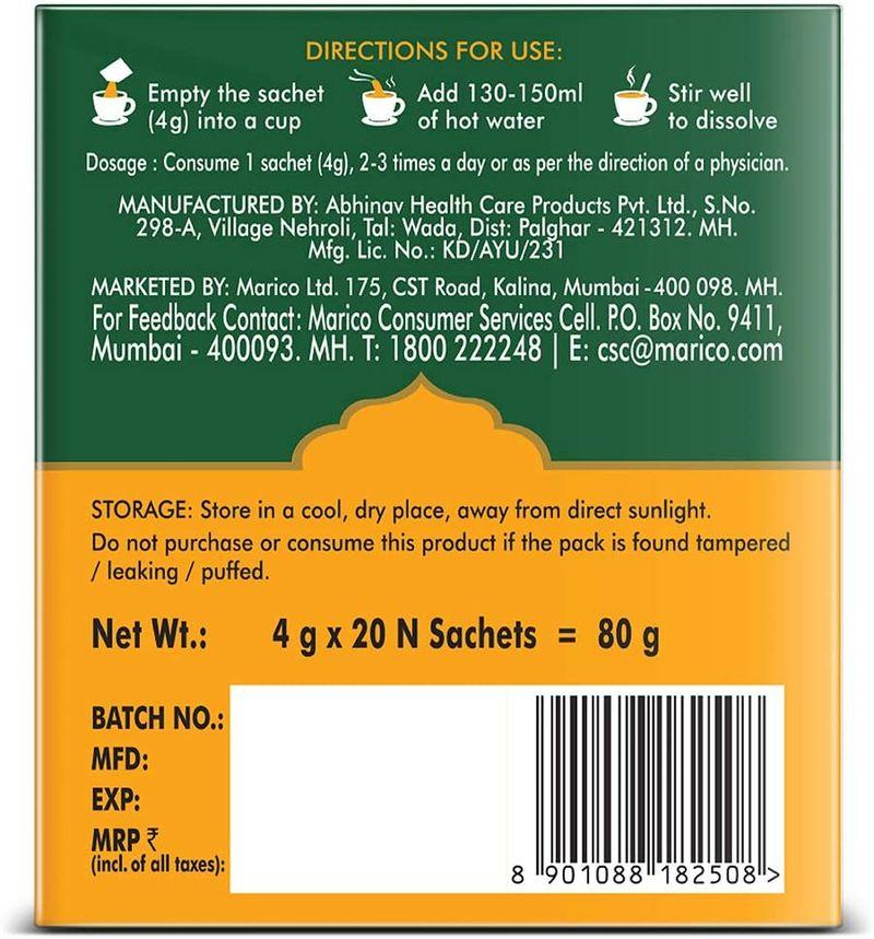 Saffola Immuniveda Kadha Mix- Family Pack 200g (50 Sachets x 4g ) | Ayurvedic Immunity Booster Herbal Drink with Ayush Kwath