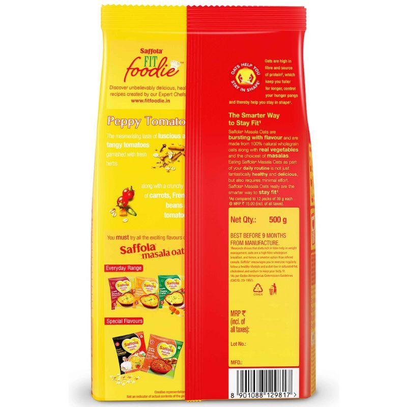 Saffola Masala Oats Peppy Tomato - 500 gm (Pack of 2)