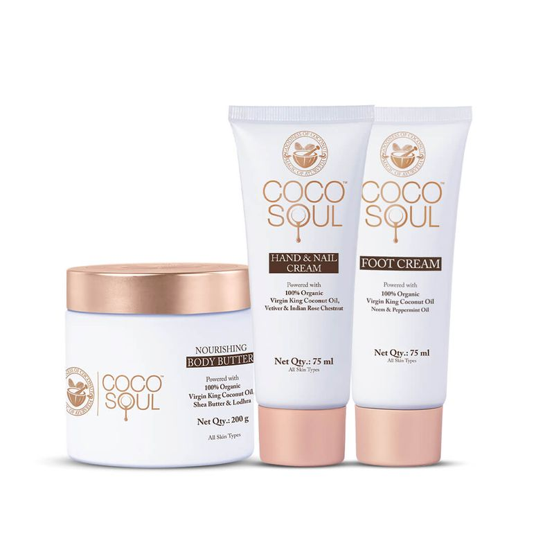 body butter foot cream and hand cream combo