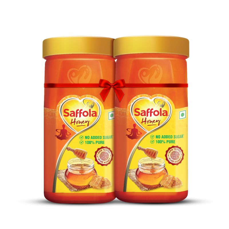 Saffola Honey 100% Pure, 500g (Pack of 2)