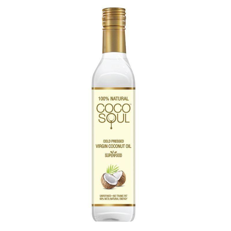 Coco Soul Cold Pressed Natural Virgin Coconut Oil, 500 ml + Saffola Gold 1L (Pack of 4)