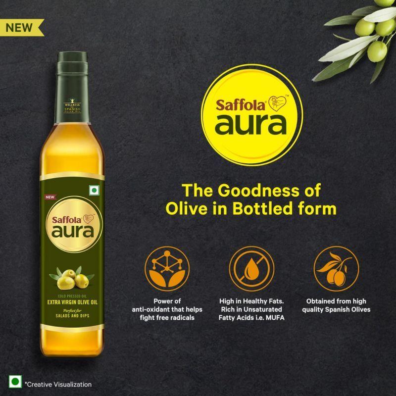 Saffola Meal Maker Soya Chunks 400g (Pack of 3) + Aura Extra Virgin Olive Oil, 500ml