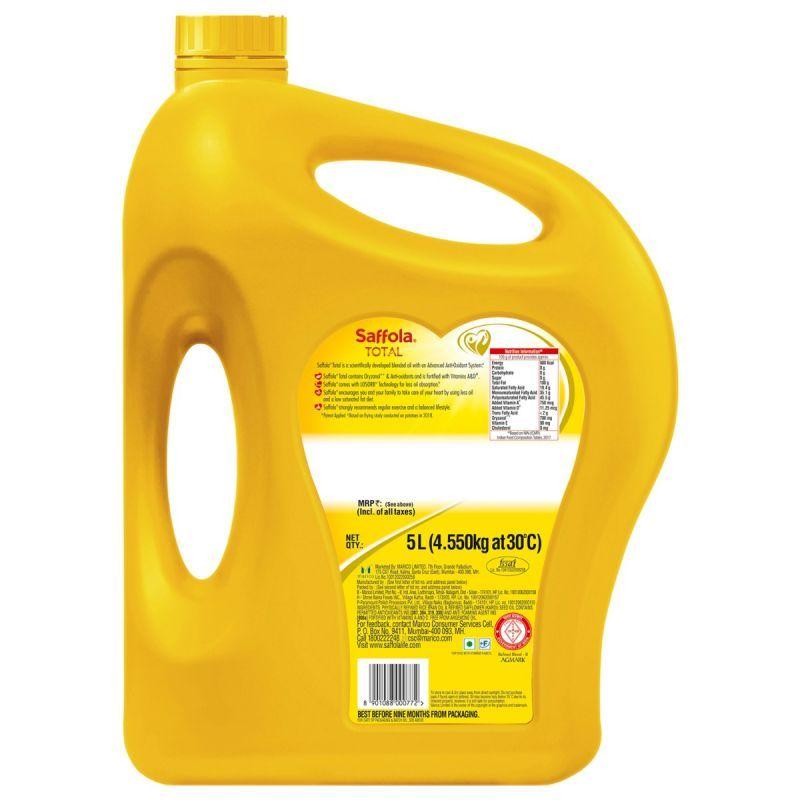Saffola Saffola Total-Pro Heart Conscious Edible Oil- 5 L Jar