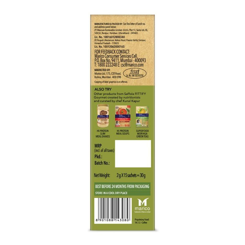 Green Coffee Instant Beverage Mix, Classic, 15 Sachets, 30 gm