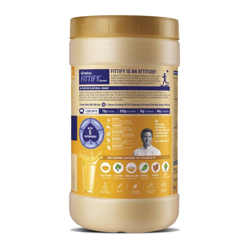 Hi Protein Slim Meal-Shake, Meal Replacement with 5 superfoods, Alphonso Mango, 420 gm (12 servings)  - Buy One Get One Free