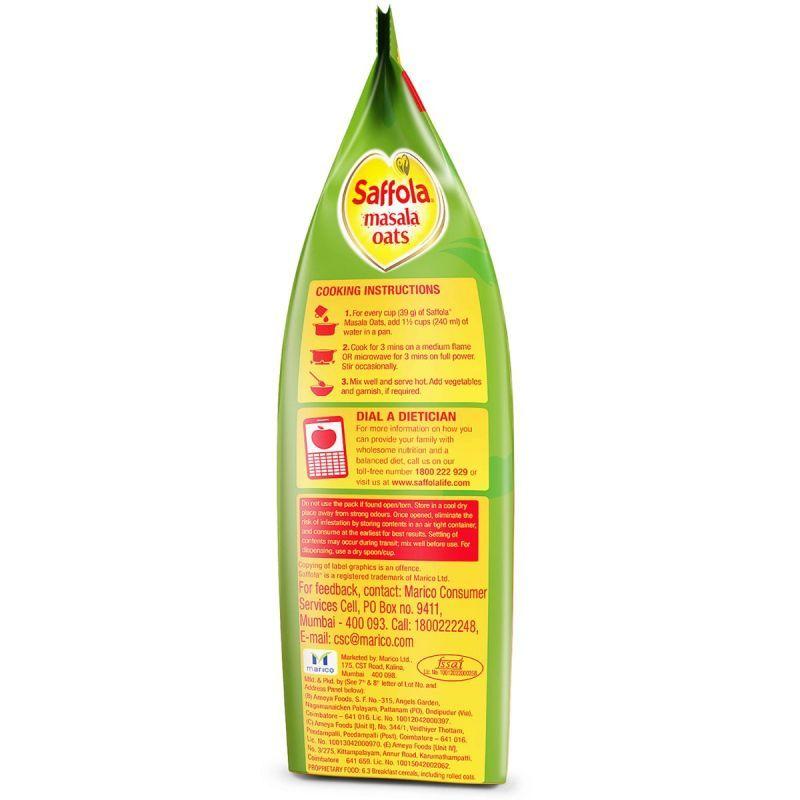 Saffola Masala Oats Curry & Pepper - 500 gm (Pack of 2)