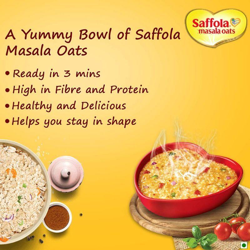 Saffola masala oats curry and pepper 500g + Saffola masala oats classic masala 500g