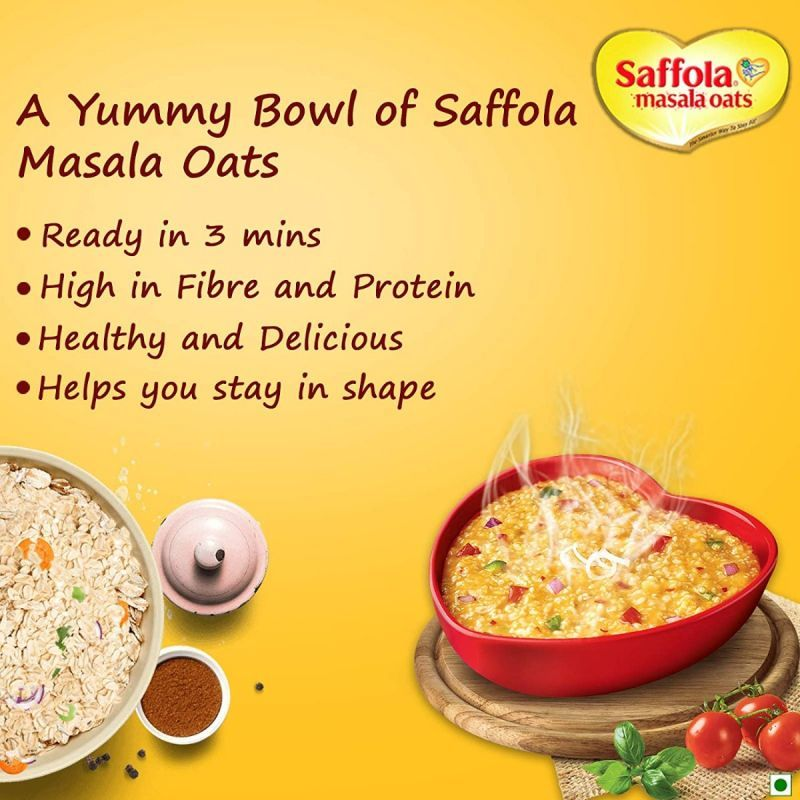 Saffola Masala Oats Peppy Tomato - 500 gm