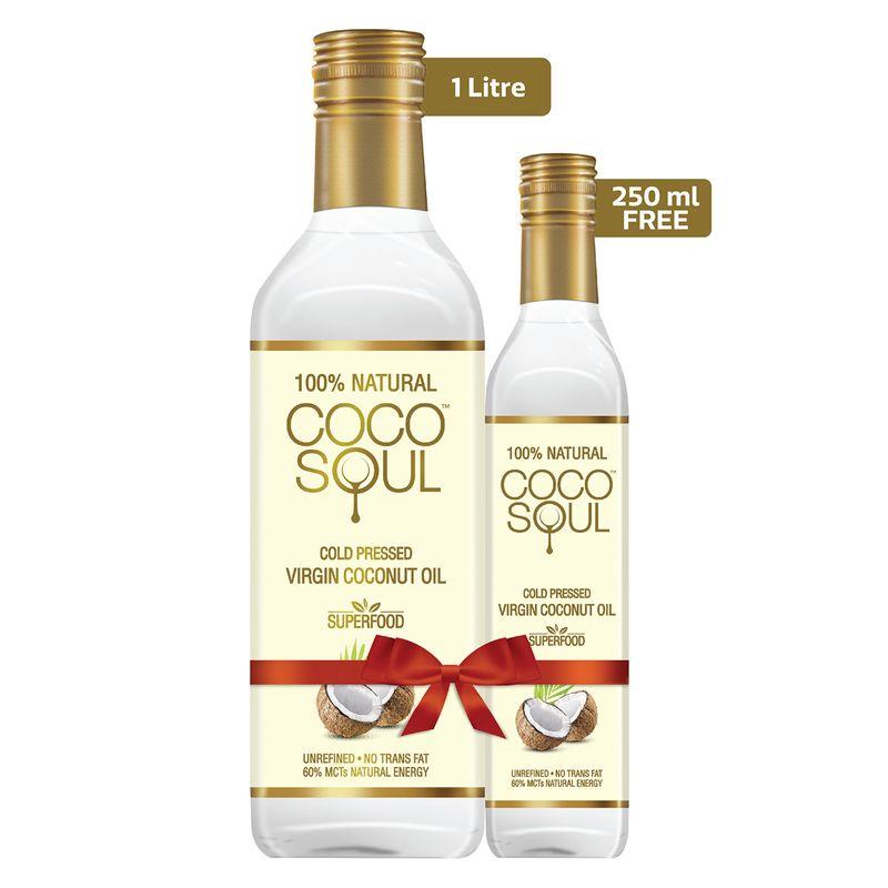 Coco Soul Cold Pressed Natural Virgin Coconut Oil, 1.25 L