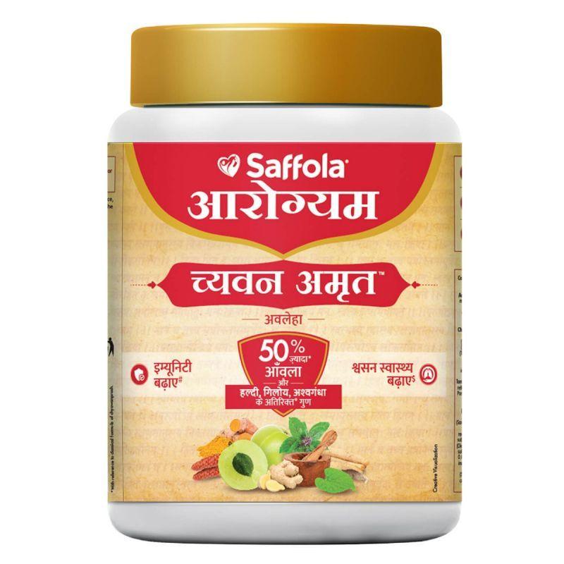 Saffola Arogyam ChyawanAmrut 1 kg-Immunity Booster for all ages-Goodness of Chyawanprash, Ayush Kwath