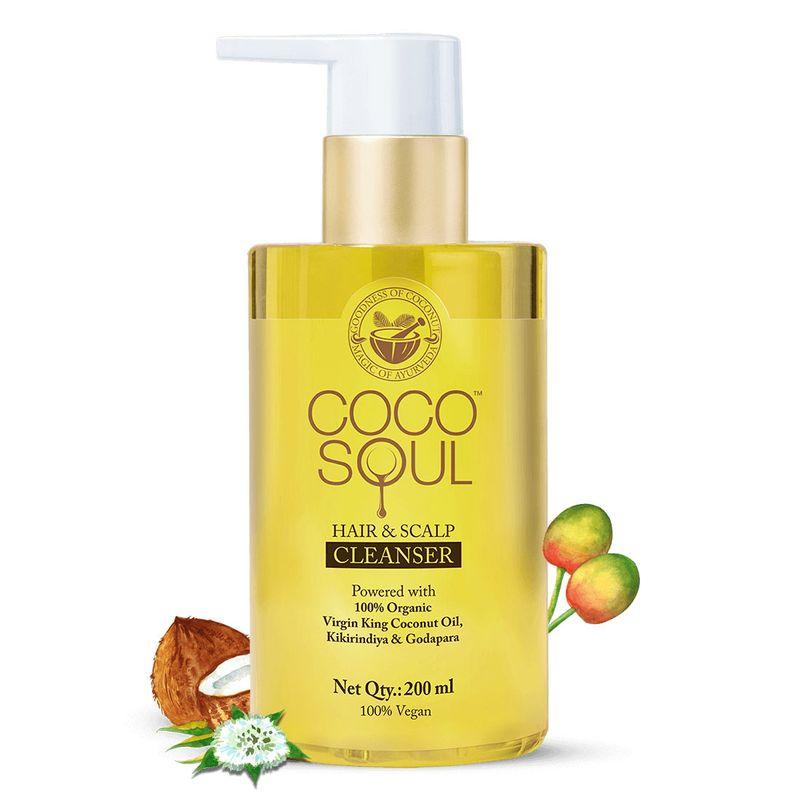Hair & Scalp Cleanser/Shampoo (200ml) with Virgin King Coconut Oil, Godapara & Kikirindiya