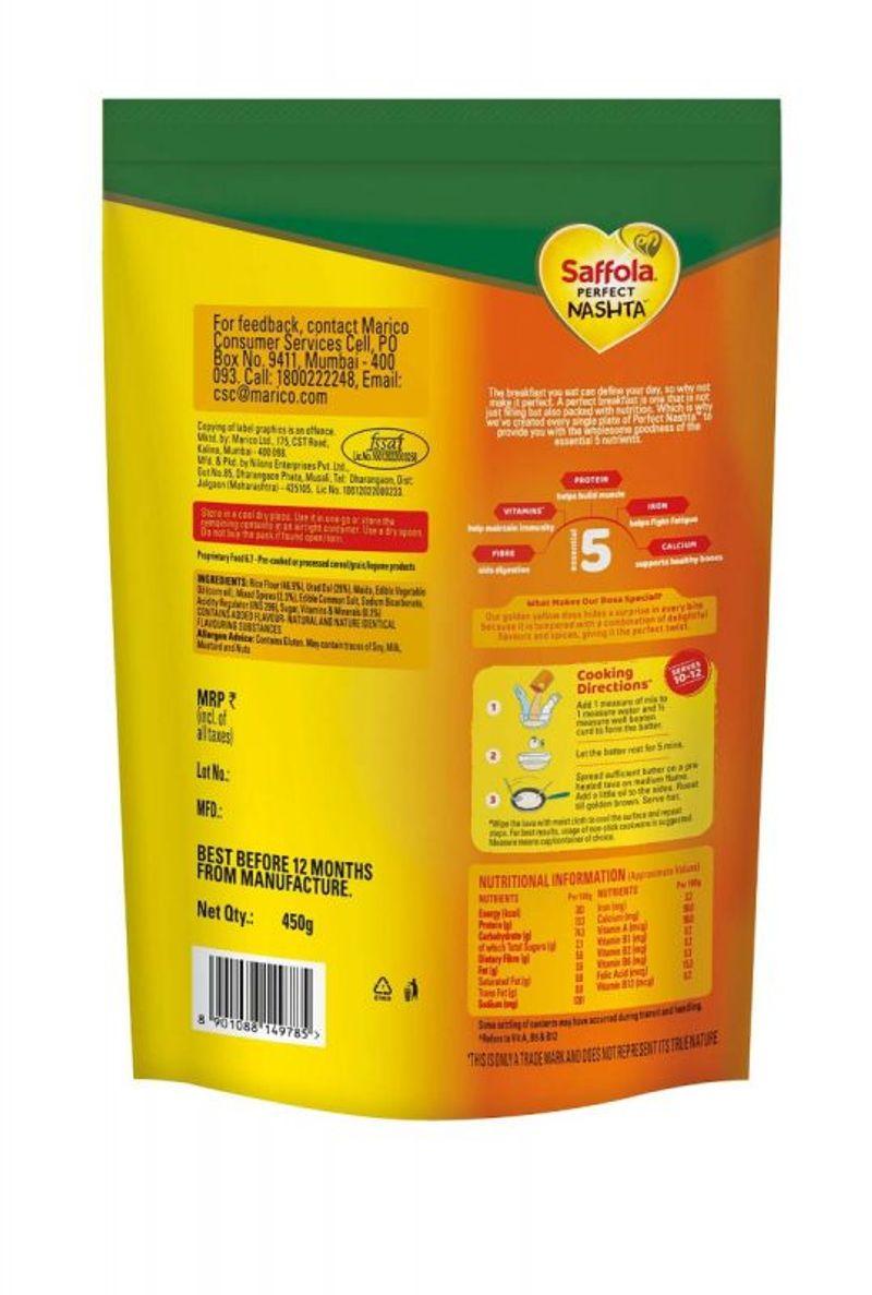 Saffola Perfect Nashta Dosa 450g (Pack of 5)