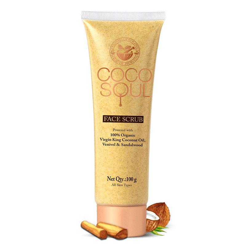 Face Scrub (100g) with Virgin King Coconut Oil, Sandalwood & Venivel