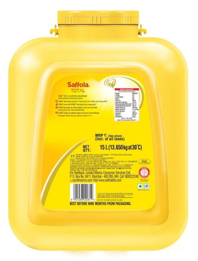 Saffola Total-Pro Heart Conscious Edible Oil - 15 L Pet Jar