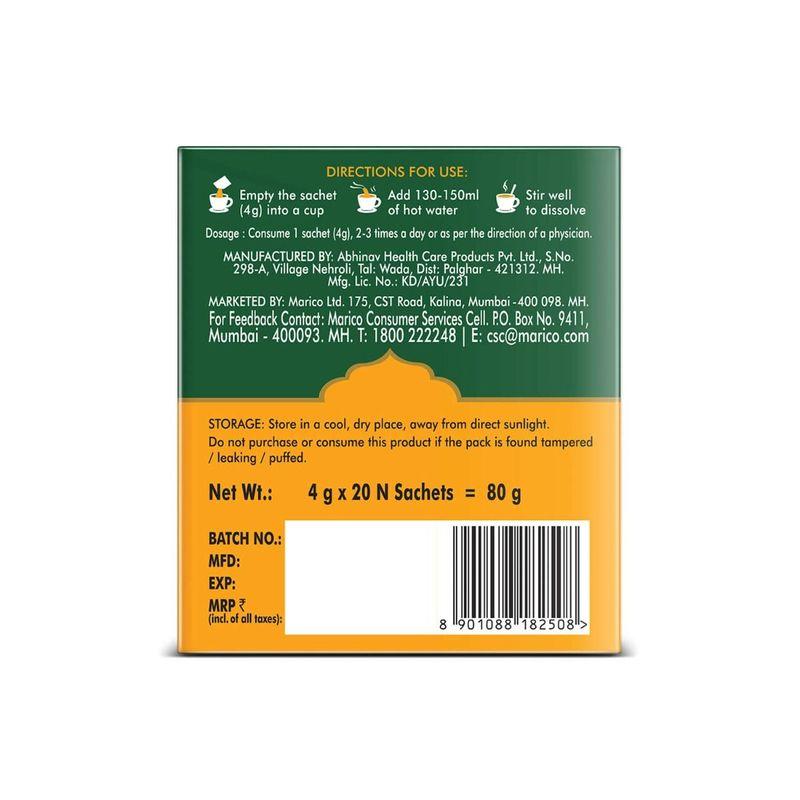 Saffola Gold 1lt Pack of 6+ Saffola Immuniveda Kadha Mix- 80g (20 Sachets x 4g )