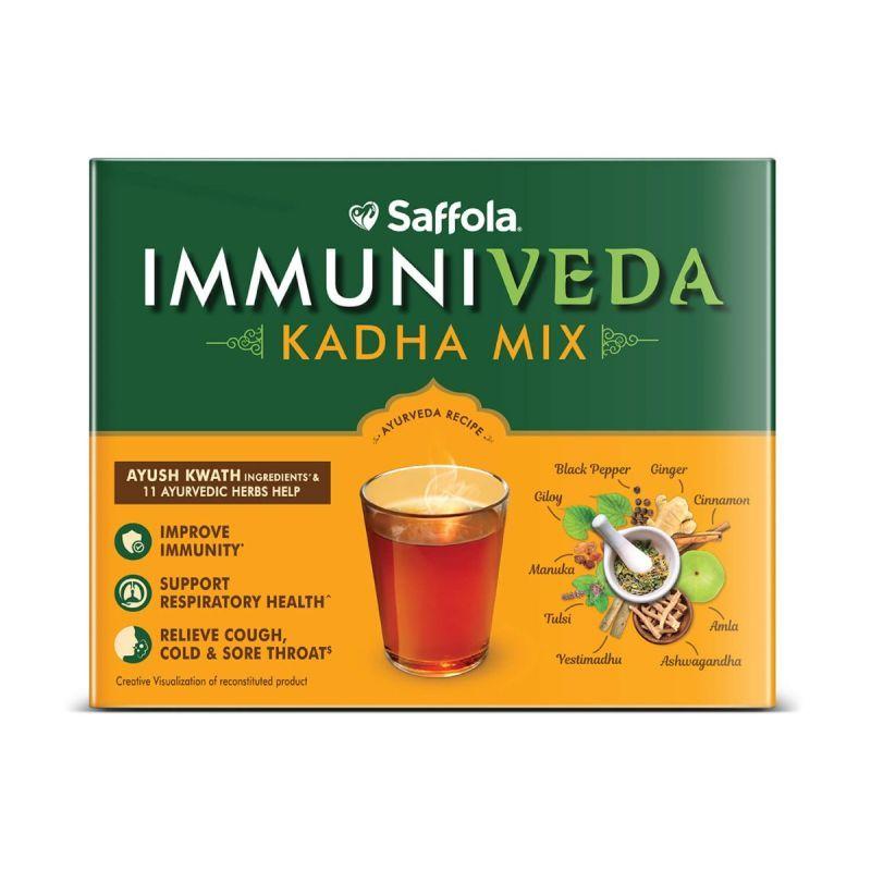 Immuniveda combo- kadha + turmeric milk mix
