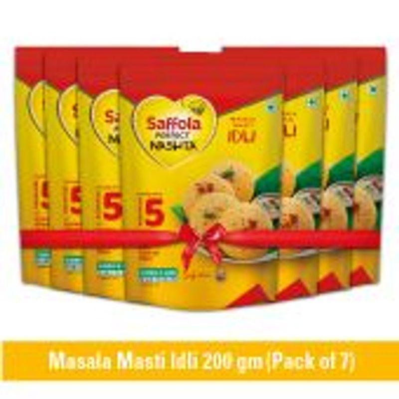 Saffola Perfect Nashta Idli 200g (Pack of 7)