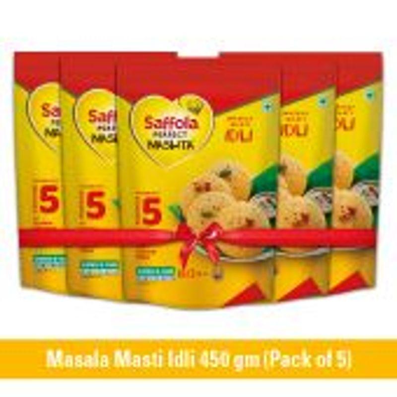 Saffola Perfect Nashta Idli 450g (Pack of 5)