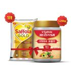 Saffola Gold 1L + ChyawanAmrut 1.25 kg