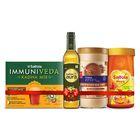 Aura Virgin Olive Oil 500ml + Honey 1kg + Kadha 80g + Saffola Fittify Slim Meal-shake, Swiss Chocolate, 420 Gm