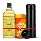Saffola Aura Refined Oil, 2L + Saffola Honey 1Kg, 100% Pure + Digital Flask worth Rs.1299 Free