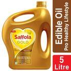 Saffola Gold, Pro Healthy Lifestyle Edible Oil - 5 L Jar
