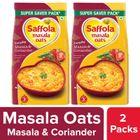 Saffola Masala Oats Masala & Coriander - 500 gm (Pack of 2)