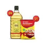 Saffola Meal Maker Soya Chunks 1Kg + Aura Refined Olive Oil, 2ltr