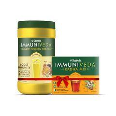 Immuniveda Kadha Mix 80g + Turmeric Milk Mix 400g