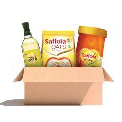 Daily Essentials Kit Aura 1L + Honey 1KG + Oats 1Kg, Free 400g