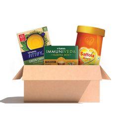 Daily Essentials Kit Green Coffee Classic 30 gm + Saffola Honey 1kg + Saffola Kadha Mix - 200g