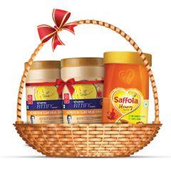 Fitness Kit | Saffola Fittify Hi Protein Slim Meal-Shake, Royal Kesar Pista, 420 gm (Buy 1 Get 1 Free) + Saffola Honey 1 Kg