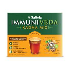 Saffola Immuniveda Kadha Mix- 80g (20 Sachets x 4g ) | Ayurvedic Immunity Booster Herbal Tea with Ayush Kwath