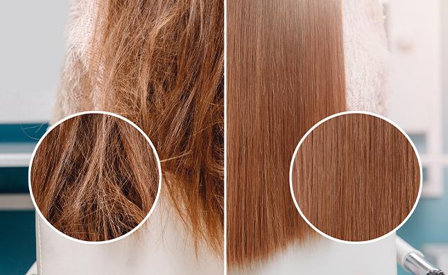 damaged hair vs healthy hair