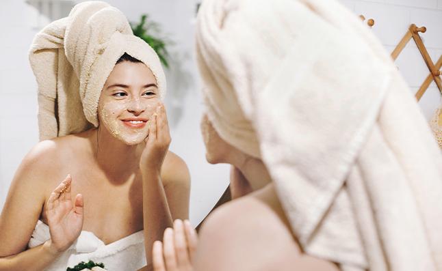 ayurvedic face exfoliation